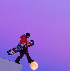 Snowboarder - Moon pic