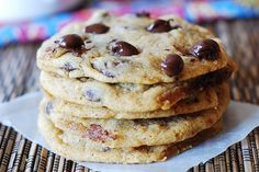 Soft and chewy chocolate chip cookies by JuliasAlbum.com, via Flickr