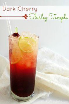Dark Cherry Shirley Temple (1/2 Lime 1/2 Lemon 2 tsp Sugar 3/4 Cup Black Cherry Juice 8.5 oz Seltzer Water)