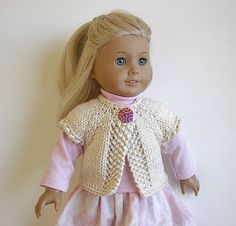 American Girl Doll Clothes Handknit  Sweater Vest by Lavenderlore