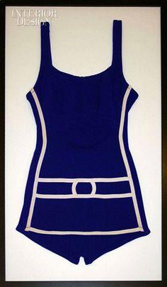 framed vintage swimwear