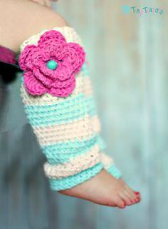 Girls Leg Warmers, Crochet Leg Warmers. I will have to learn to crochet by then!