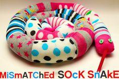 Mismatched Socks? Sew a Sock Snake! - Plushie Patterns