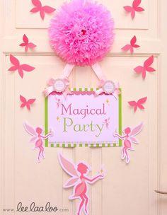 the doors, fairi parti, door hangings, birthday parties, sliding glass doors, front doors, green fairi, fairy birthday, fairy doors