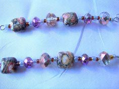 Natural Stone Dangle Earrings/ Brown Jasper by LittleGemsandMore, $12.00
