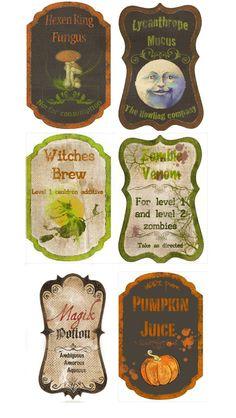 custom Potion labels by ~Pureblackmagik on deviantART