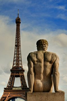 Paris, la tour Eiffel vue depuis le Palais Chaillot