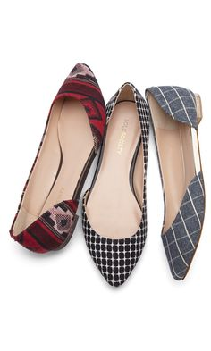 D'orsay flats with an almond-shaped toe and open side (making it easy to slip on and off).