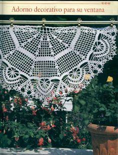 curtains on pinterest crochet curtains crochet curtain. Black Bedroom Furniture Sets. Home Design Ideas