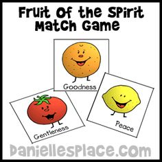 Fruit of the Spirit Match Game for Sunday School from www.daniellesplace.com