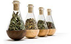 for Admiration: Spice Rack by Jorg Brachmann (Verschiedene Kräuter) herb storag, spice rack, spice jars, herbs, dens, küche, stehaufkräuterflakon von, design, foodi kitchen