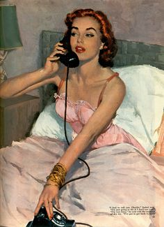 """~'I had to call you, Charlie…"""" - illustration for Collier's magazine, 1951 ~*"""