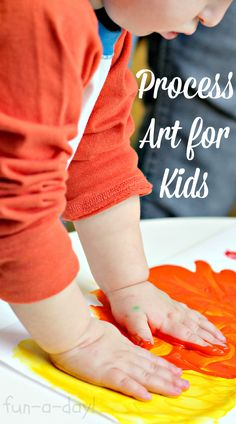 What is process art for kids, and why is it important?  What are some things to consider  before getting started?  Contains links to additional resources.