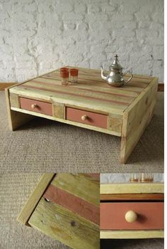 coffee table from a pallet, genius!