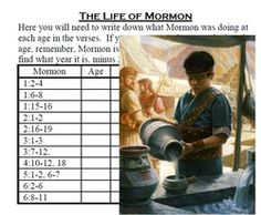 This glue-in is a worksheet that helps your students get to know the great prophet Mormon and the ages when these events happened.