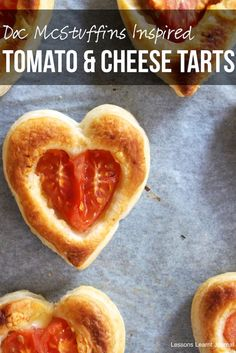 Doc McStuffins Inspired Tomato and Cheese Tarts via Lessons Learnt Journal