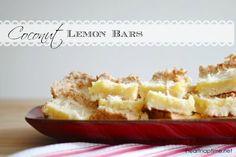 Coconut Lemon Bars I Heart Nap Time | I Heart Nap Time - Easy recipes, DIY crafts, Homemaking