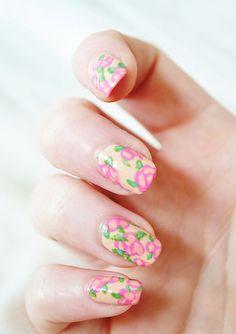 floral nails #nails #nail_design