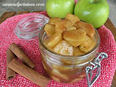 at home, brown sugar, cups, butter, delici, caramels, favor, apples, cinnamon appl