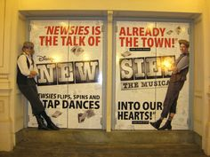 Best way to take a photo at Newsies! @Allison Crea, @Michael Webster-Clarke WE ARE DOING THIS.