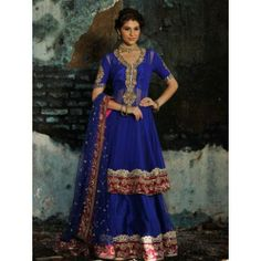 Blue Wedding Gowns | Blue Color Bridal Lehenga (Product Code -Pakistani Wedding Dress 60)