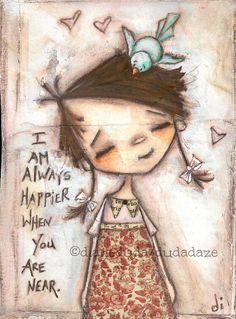 """Cereal Box Art  """"Happy Near You""""    Affordable way to get an original piece of art!  ©dianeduda/dudadaze"""