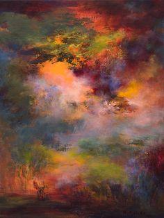 "Saatchi Online Artist: Rikka Ayasaki; Acrylic, Painting ""Passions, twilight 7008-A"" artists, acrylic paintings, sky, art paintings, painting art, color, saatchi, twilight, rikka ayasaki"