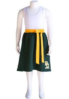 Cute #Baylor youth bowtie dress ($42 at Baylor Bookstore)