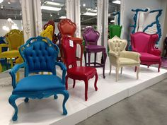 Super retro chairs in bold brights by Polart! #hpmkt