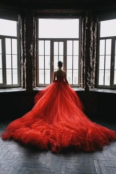 Stunning red tulle