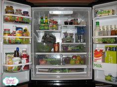 Organized and labeled fridge from organized reader, Andrea | OrganizingMadeFun.com