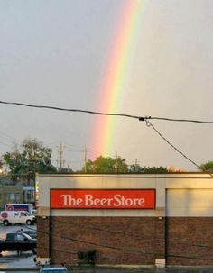 Whats at the End of the Rainbow? BEER! (find more funny signs at funnysigns.net)