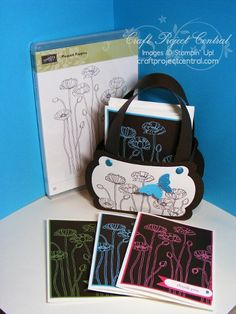 CraftProjectCentral.com » Blog Archive » Pleasant Poppies Notes & Tote!