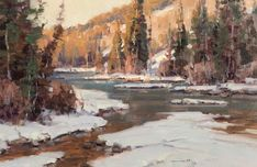 landscap art, thing art, snow scene, artsnowscap paint, landscap paint, eye art, scott christensen