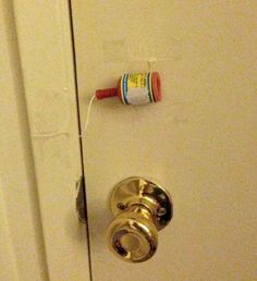 Affix a party popper to your kid's bedroom door. | 31 Awesome April Fools' Day Pranks Your Kids Will Totally Fall For parti popper, pranks ideas for kids, kid bedrooms, diy pranks, april fools pranks for kids, fun pranks for kids, april fools day pranks