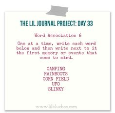 The Lil Journal Project Day 33 #theliljournalproject