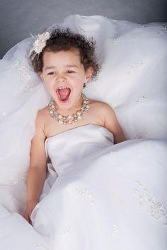 wearing mommy's wedding dress image