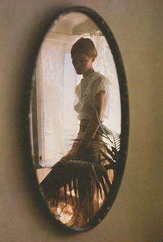 david hamilton | reflection | mirror | solemn | beauty | feminine |