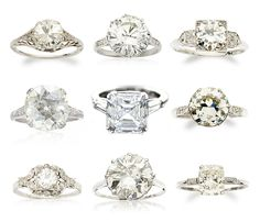 vintage rings! love. ABSOLUTELY OBSESSED