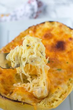 Remember you can have cheese with the extra calories from working out so make this on days you work out. Spaghetti Squash Au Gratin. Easy to make meal that is filled with veggies. Spaghetti Squash Au Gratin is the perfect meal for anytime! Low carb and keto friendly!!