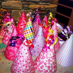 Girly party hats for my daughters birthday party