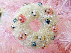 christmas wreaths, brush wreath, bottl brush, shabbi chic, pink christma