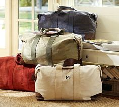 Union Canvas Weekender Bag #potterybarn weekend bags, potteri barn, green, barns, canva weekend, accessories, tote bags, pottery barn, canvases