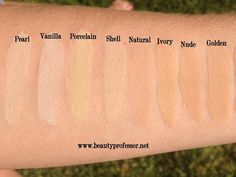 Beauty Professor: Hourglass Immaculate Foundation...Swatches of EVERY Shade! // She really gives this foundation a glowing review. Check it out!