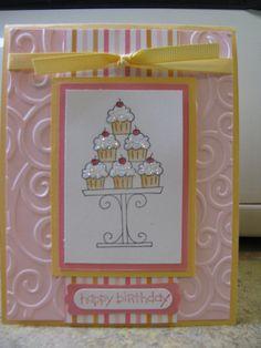 HAPPY BIRTHDAY - Stampin Up Card Kit - Set of 4 Cards. $7.50, via Etsy.