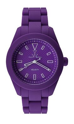 Toy Watch. Velvety Collection. Made of super soft silicone rubber that has a brushed velvet-like feel.