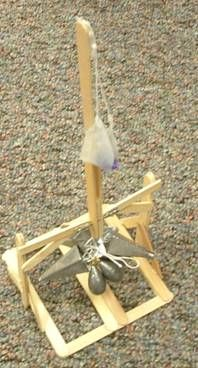 How to Build a popsicle stick trebuchet