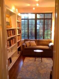 cozy library   Cozy 1920s Library , I use this small room off the living room as a ...
