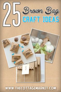25 Brown Bag Crafts Create and Recycle - The Cottage Market