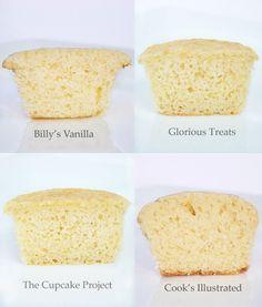 Vanilla cupcake comparison